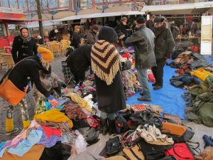 Second hand clothes market