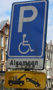 Parkingsign in Amsterdam