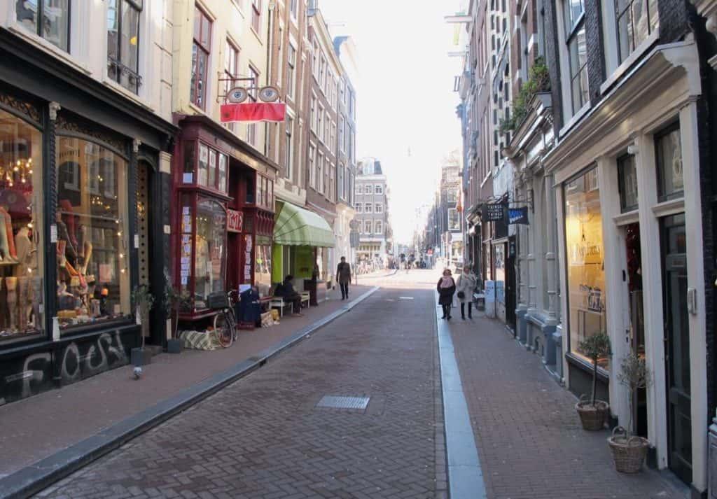 Shopping district Amsterdam