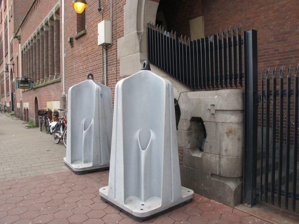 urinals in Amsterdam
