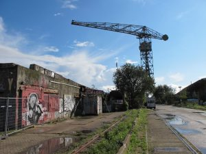 Only remaining crane at NDSM Amsterdam