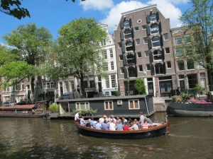 Cruise in the Amsterdam canals