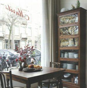 Marit's living room restaurant in Amsterdam.