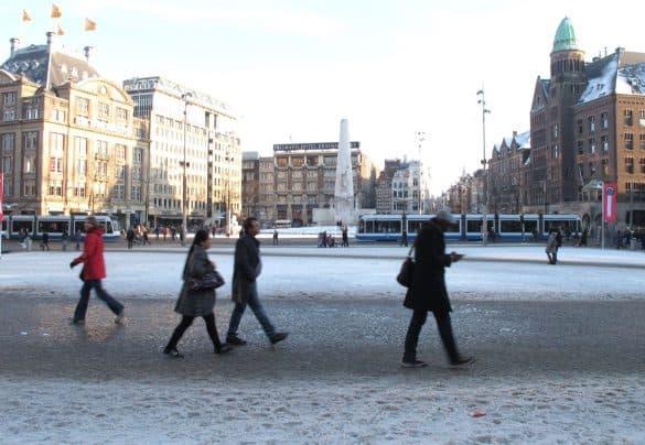 Dam Square in winter