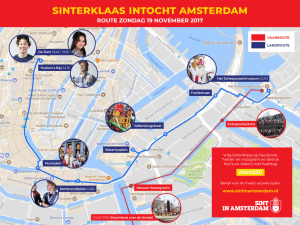 Dutch Santa entrance route