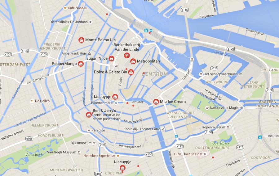 ice cream shops Amsterdam