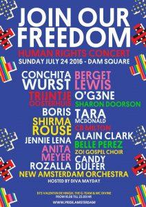 Freedom event Amsterdam 2016