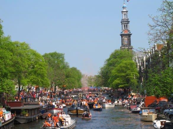 Prinsengracht Amsterdam King's Day