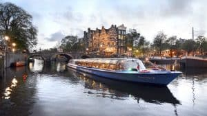 Canal boat ride amsterdam