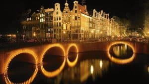 Evening boat ride amsterdam canals