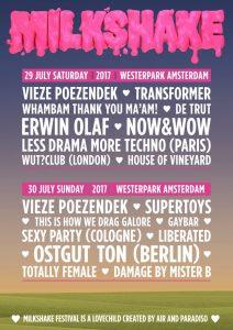Milkshake festival Amsterdam line up