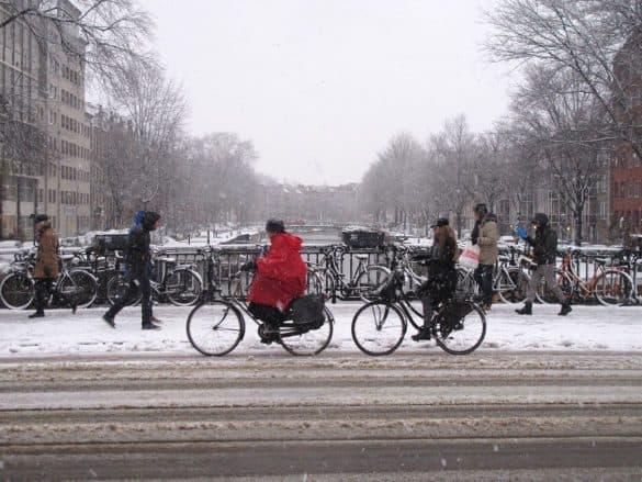 Winter in Amsterdam cold