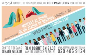 Flyer for free rooftop films Amsterdam
