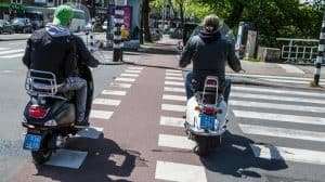 Banning the scooter of the bike lane Amsterdam