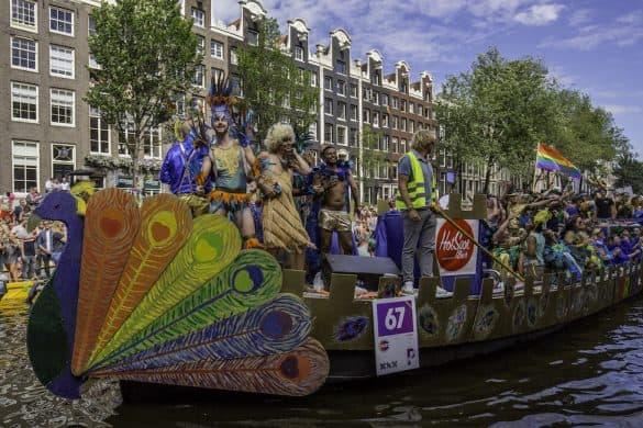 Gay Parade boat Amsterdam