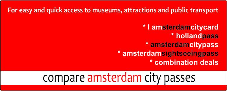 Compare Amsterdam city Passes